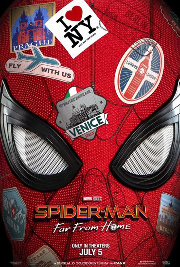 Póster de Spider Man Lejos de casa
