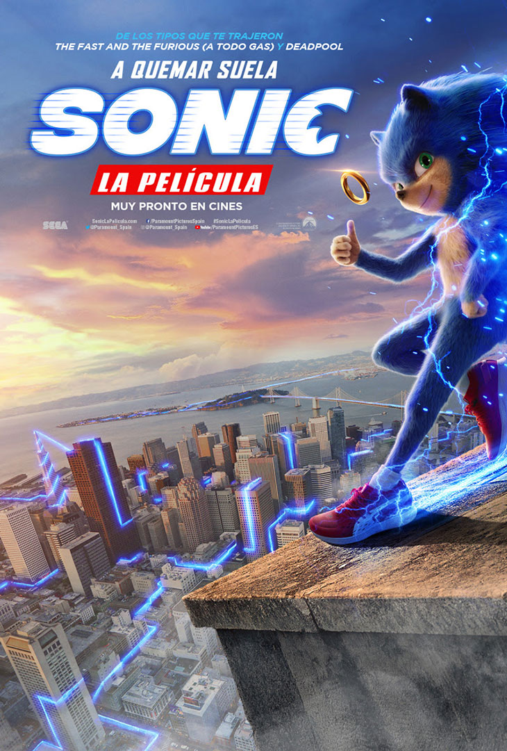 Póster de Sonic: la película