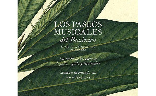 Póster de Paseos Musicales del Botánico destacada